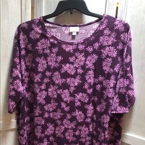 Purple LuLaRoe Irma shirt